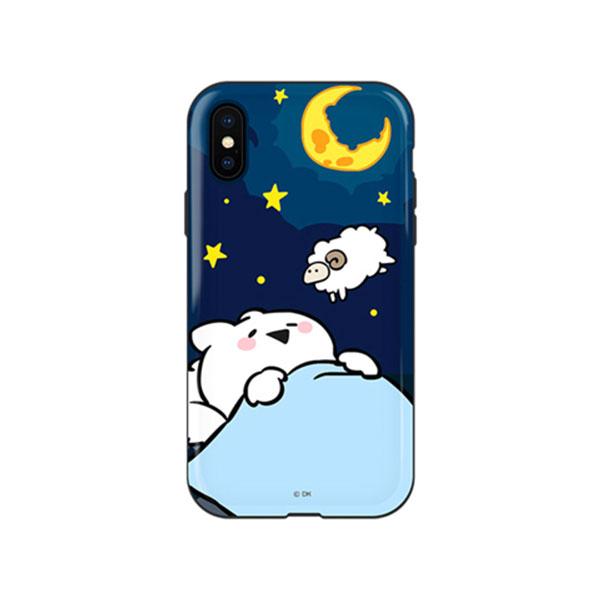 DK iPhone XS / X すこぶる動くウサギ グロッシー エディションケース TH-108