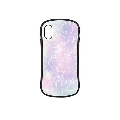 gourmandise iPhone XS / X ハイブリッドガラスケース ミッフィー グラデーション