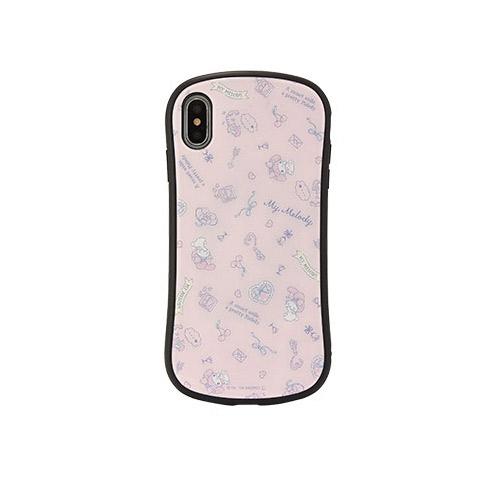 gourmandise iPhone XS Max ハイブリッドガラスケース サンリオキャラクターズ マイメロディ