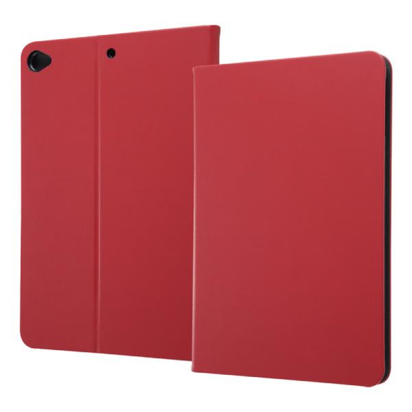 ingrem iPad mini 第5世代 レザーケース スタンド機能付き レッド