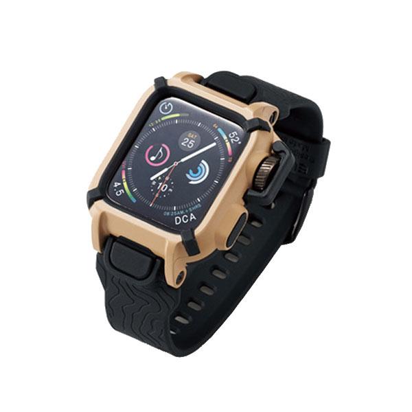 エレコム Apple Watch 40mm Series 4 / 5 NESTOUT バンドケース カーキ