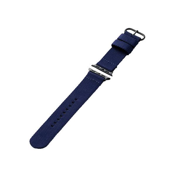 エレコム Apple Watch 38mm / 40mm ファブリックバンド ブルー