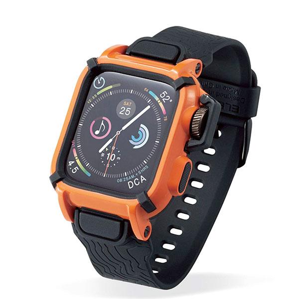 エレコム Apple Watch 44mm Series 4 / 5 NESTOUTバンドケース オレンジ