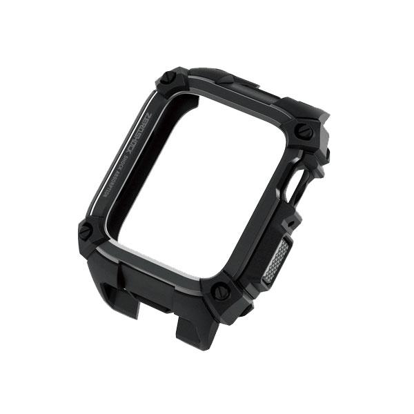 エレコム Apple Watch 44mm Series 4 / 5 ZEROSHOCKケース ブラック