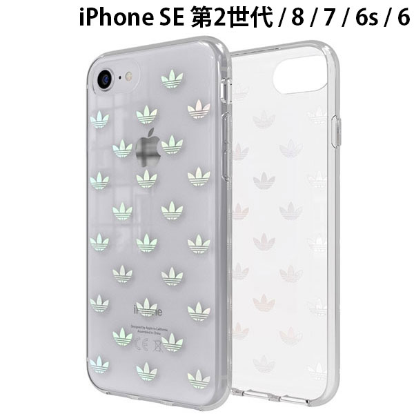 adidas iPhone 8 / 7 / 6s / 6 OR-Clear Case-Trefoils colorful logo