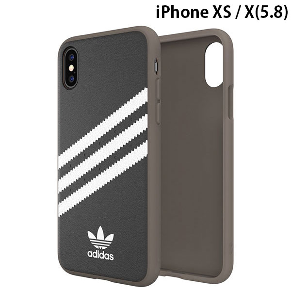 adidas iPhone XS / X OR-Moulded case PU Gumsole SS19 Black/White