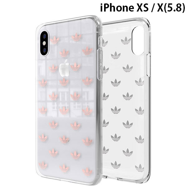 adidas iPhone XS / X OR-Clear Case SS19 Rose Gold
