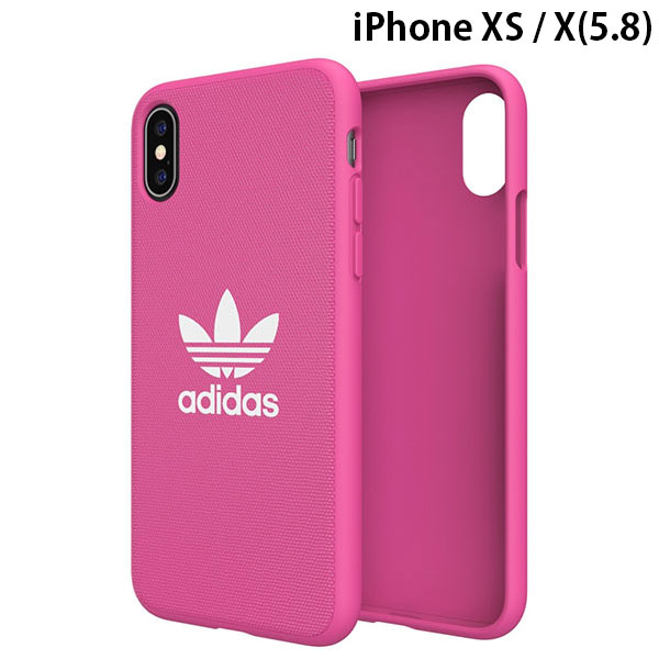 adidas iPhone XS / X OR-Moulded Case CANVAS SS19 Shock Pink