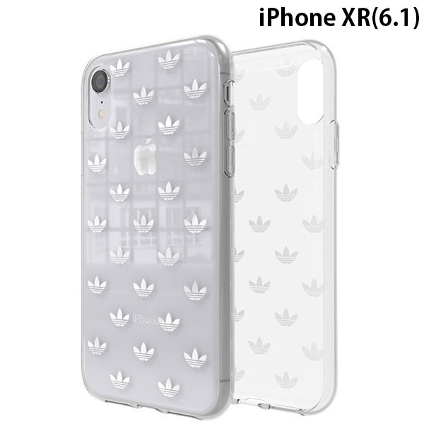 adidas iPhone XR OR-Clear Case SS19 Silver