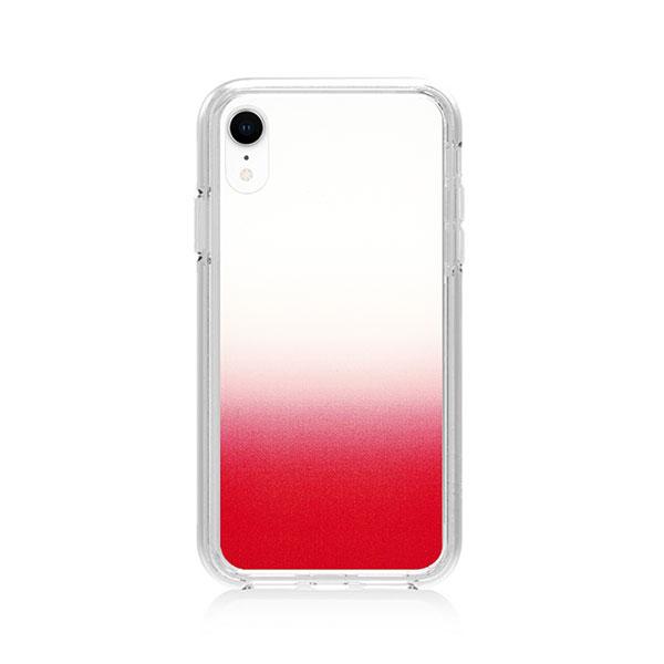 Simplism iPhone XR [GLASSICA] 背面ガラスケース クリアレッド