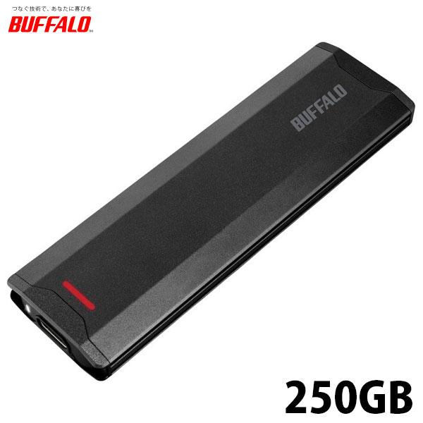 BUFFALO USB3.1(Gen2)対応 ポータブルSSD 250GB ブラック