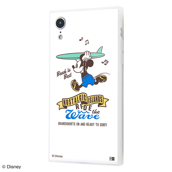 ingrem iPhone XR ディズニーキャラクター 耐衝撃ケース KAKU トリプルハイブリッド ミッキーマウス Beach is Best
