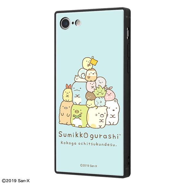 ingrem iPhone 8 / 7 すみっコぐらし 耐衝撃ケース KAKU トリプルハイブリッド すみっコぐらし_1