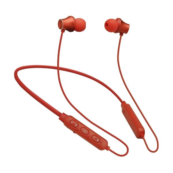 たのしいかいしゃ 『いい音』Bluetooth 5.0 ネックバンド付き アルミ製ワイヤレスイヤホン レッド