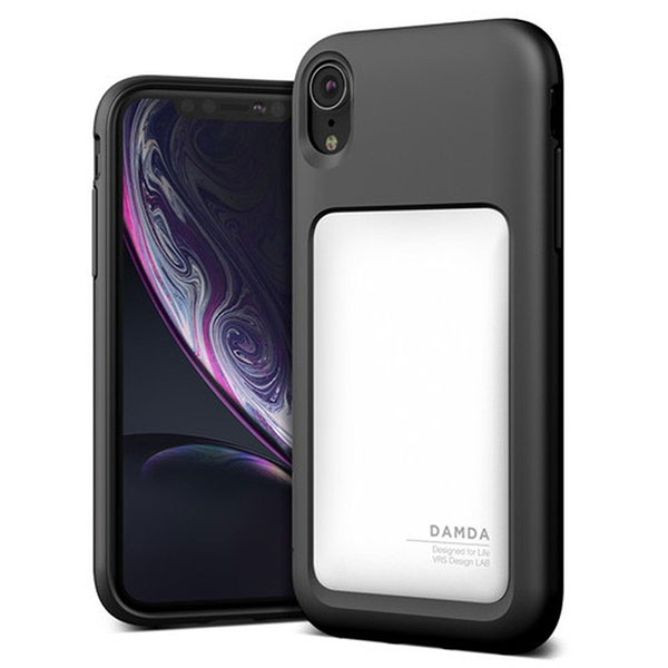 VRS DESIGN iPhone XR Damda High Pro Shield Black クリームホワイト