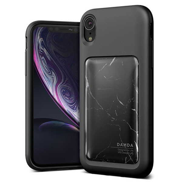 VRS DESIGN iPhone XR Damda High Pro Shield Black ブラックマーブル