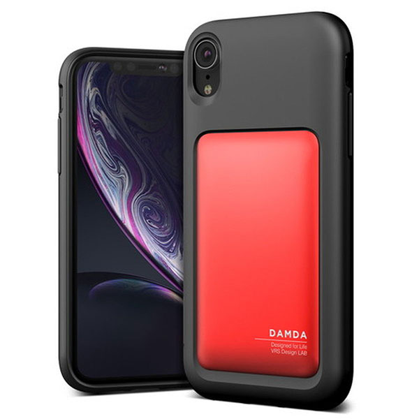 VRS DESIGN iPhone XR Damda High Pro Shield Black ディープレッド