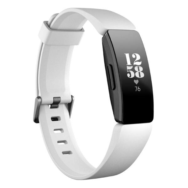 fitbit Inspire HR スマートフィットネストラッカー 心拍計 睡眠ステージ測定機能 White/Black