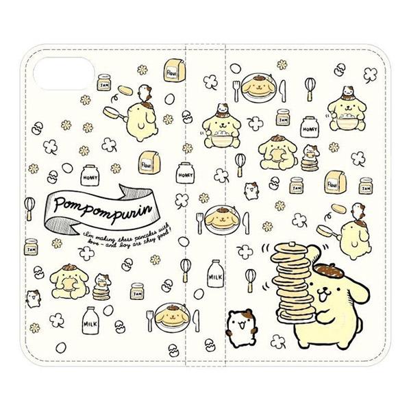 gourmandise iPhone 8 / 7 サンリオキャラクターズ フリップカバー ポムポムプリン