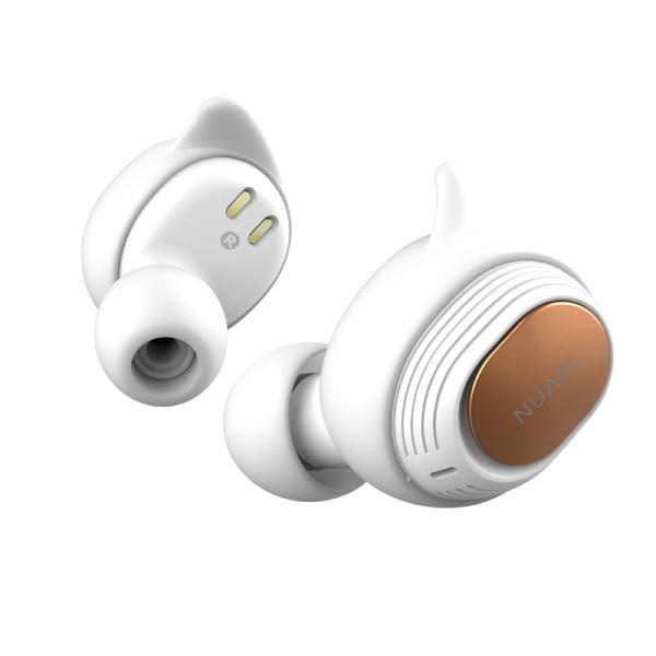 NUARL NT110 Bluetooth 5.0 完全ワイヤレス IPX7 防水 ステレオイヤホン ホワイト