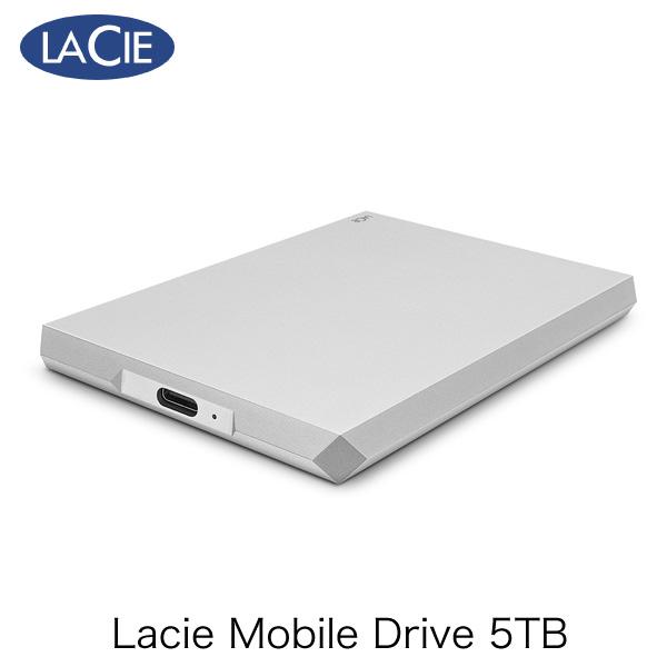 Lacie 5TB Mobile Drive USB3.1 USB-C対応 ポータブル ハードディスク ムーン・シルバー