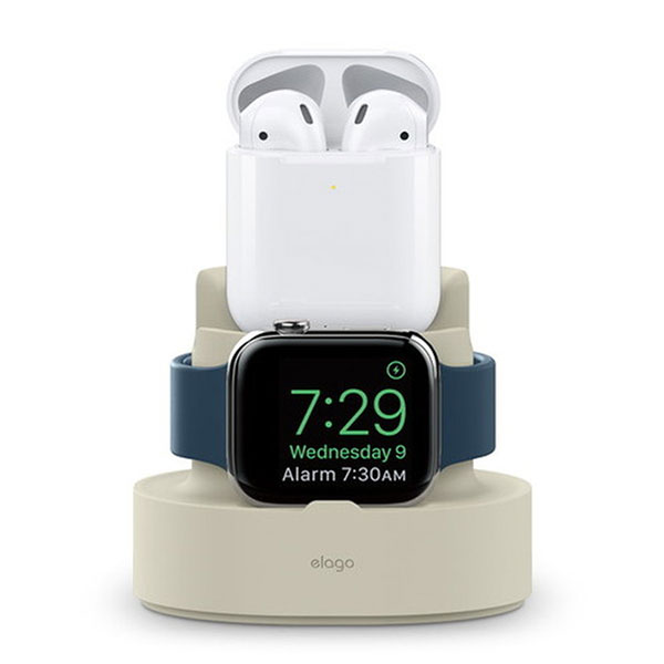 elago iPhone / AirPods / Apple Watch MINI CHARGING HUB (Classic White)