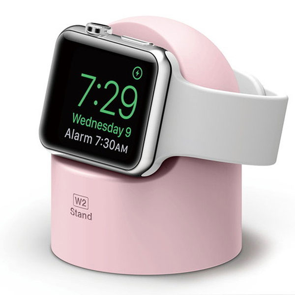 elago Apple Watch W2 Stand エルゴノミクスデザイン 純正充電ケーブル対応 シリコンスタンド Lovely Pink