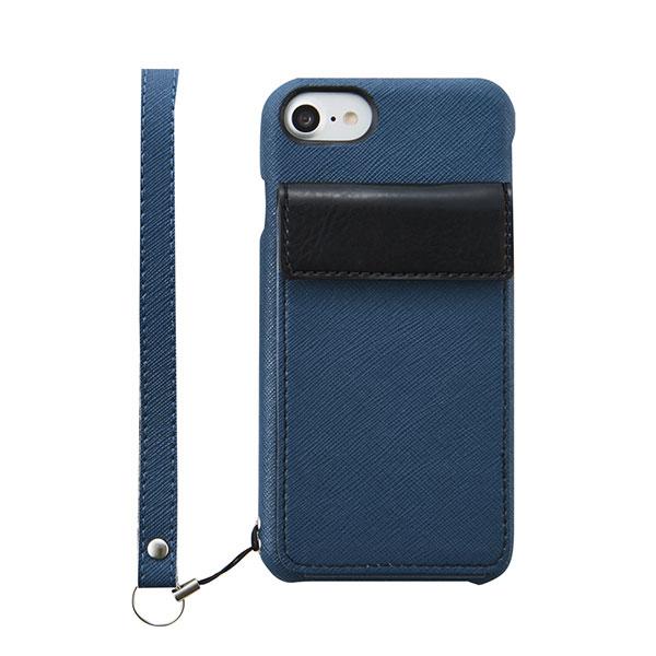 Simplism iPhone 8 / 7 [NUNO BackPack] バックカバーカードケース ネイビー