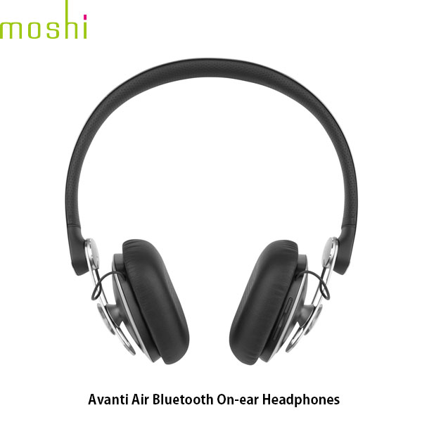 moshi Avanti Air Bluetooth ワイヤレス オンイヤーヘッドフォン Jet Black