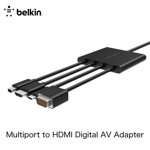 BELKIN Multiport to HDMI Digital AV アダプタ(VGA、USB-C、HDMI、Mini DisplayPort)