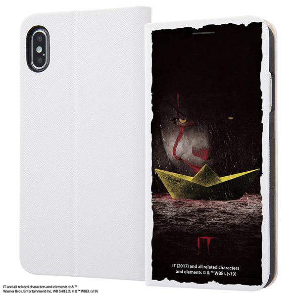 ingrem iPhone XS Max IT 手帳型ケース マグネットタイプ ペニーワイズ