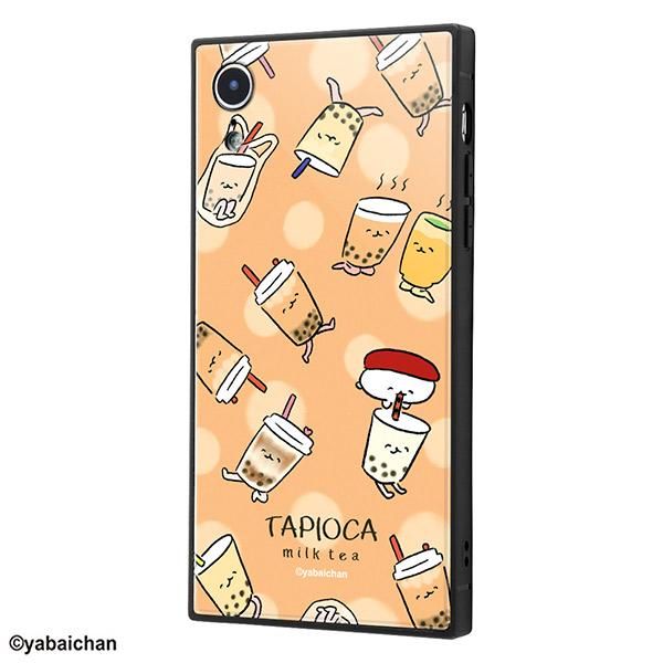 ingrem iPhone XR おしゅしだよ 耐衝撃ケース KAKU トリプルハイブリッド 総柄4