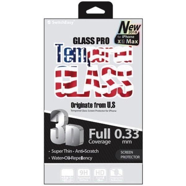 SwitchEasy iPhone 11 Pro Max Glass Pro 3Dガラスフィルム ブラック 0.33mm