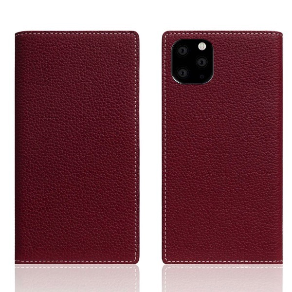 SLG Design iPhone 11 Pro Full Grain Leather Case 本革 手帳型ケース Burgundy Rose
