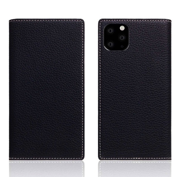 SLG Design iPhone 11 Pro Full Grain Leather Case 本革 手帳型ケース Black Blue