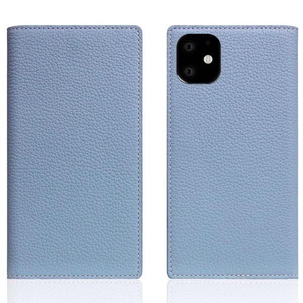 SLG Design iPhone 11 / XR Full Grain Leather Case 本革 手帳型ケース Powder Blue