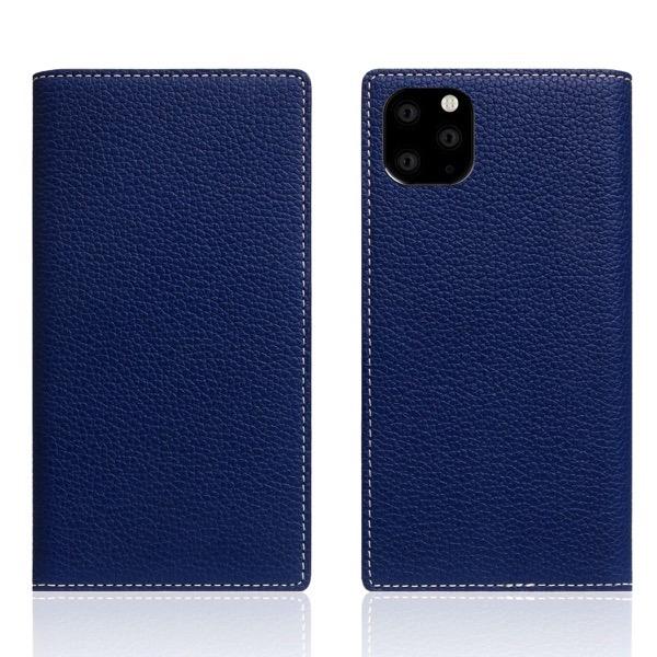 SLG Design iPhone 11 Pro Max Full Grain Leather Case 本革 手帳型ケース Navy Blue