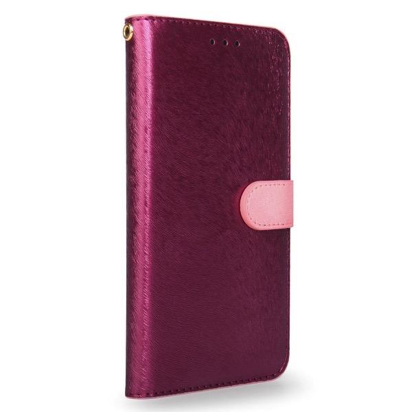 HANSMARE iPhone 11 / XR CALF Diary ワインピンク