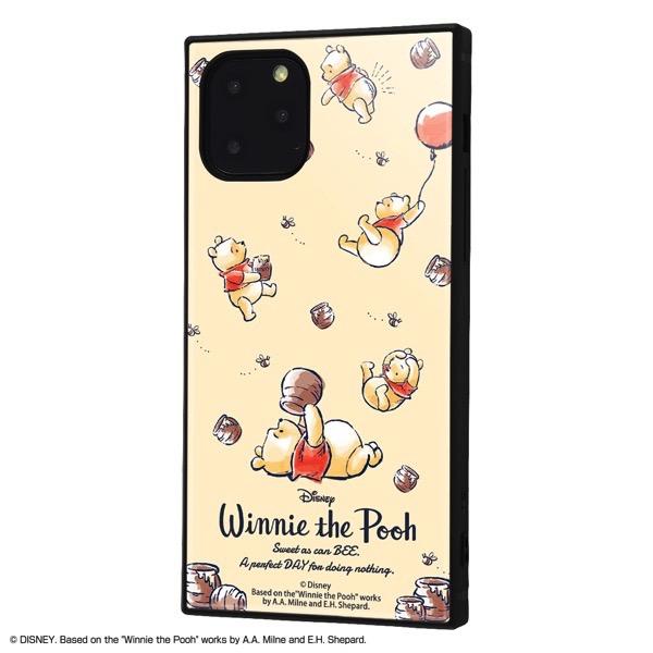 ingrem iPhone 11 Pro ディズニーキャラクター 耐衝撃ハイブリッドケース KAKU くまのプーさん Perfect Day