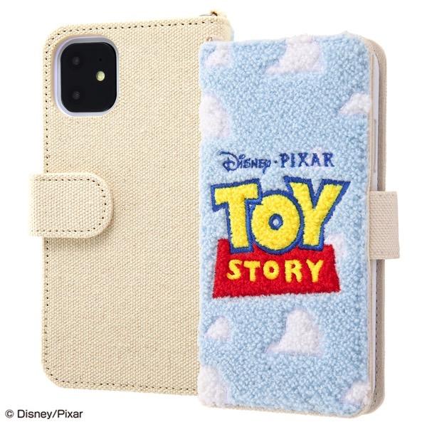 ingrem iPhone 11 / XR ディズニー・ピクサーキャラクター 手帳型ケース サガラ刺繍 トイ・ストーリー ロゴ