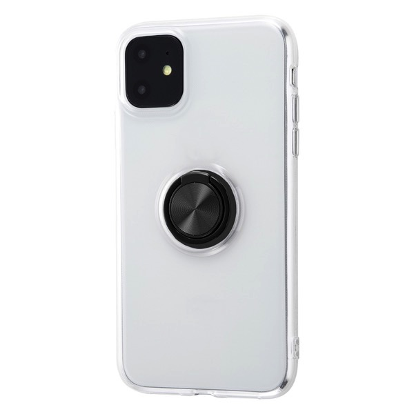 ingrem iPhone 11 TPUソフトケース リング付 ブラック