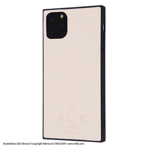 ingrem iPhone 11 Pro Max ミッフィー 耐衝撃オープンレザーケース KAKU ベージュ