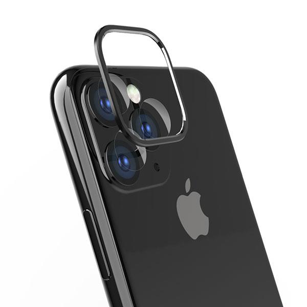 Simplism iPhone 11 Pro [Lens Bumper Plus] カメラレンズ保護アルミフレーム&ガラスコーティングフィルムセット ブラック