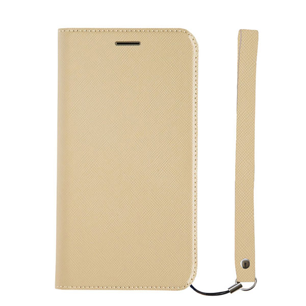 Simplism iPhone 11 Pro [FlipNote Smart] サフィアーノ 耐衝撃フリップノートケース スマートON/OFF グレージュ