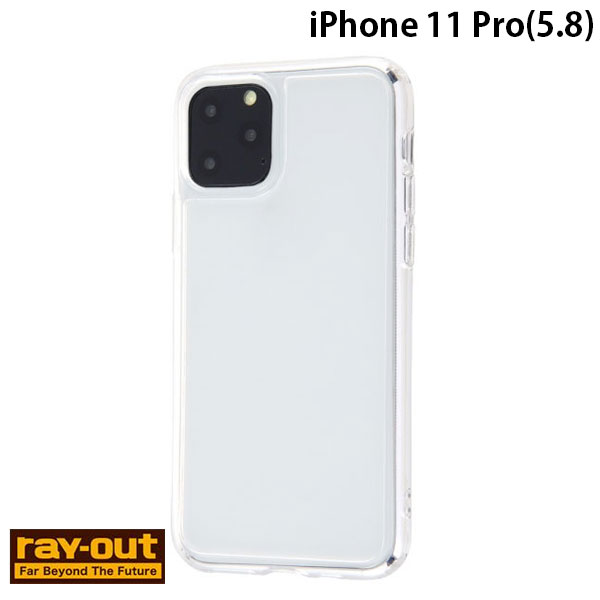 Ray Out iPhone 11 Pro ハイブリッドガラスケース 強化ガラス クリア