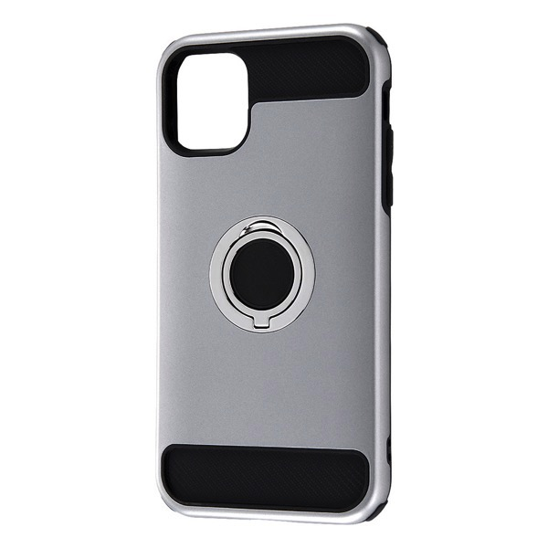 Ray Out iPhone 11 耐衝撃ケース リング付360 シルバー