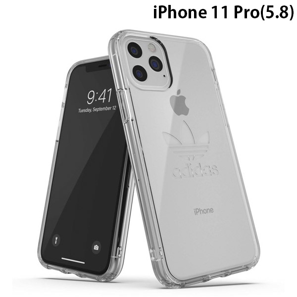 adidas iPhone 11 Pro OR Protective Clear Case Big Logo FW19 Clear