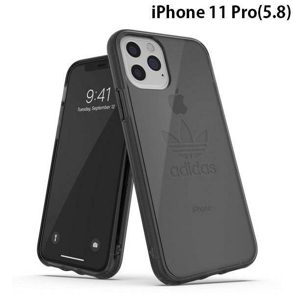 adidas iPhone 11 Pro OR Protective Clear Case Big Logo FW19 Smokey Balck