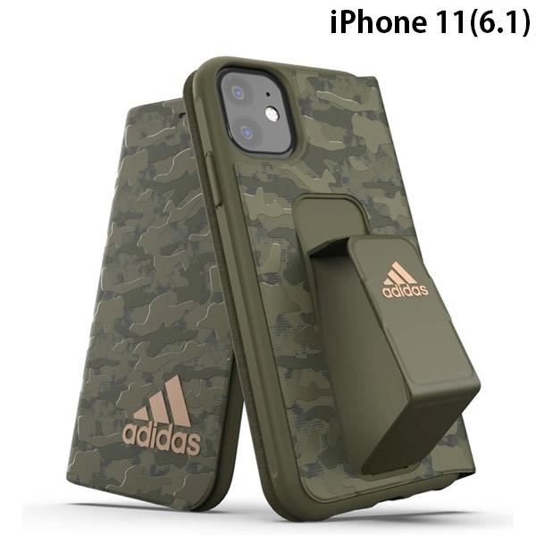 adidas iPhone 11 SP Folio grip case CAMO FW19 sept 19 Tech olive