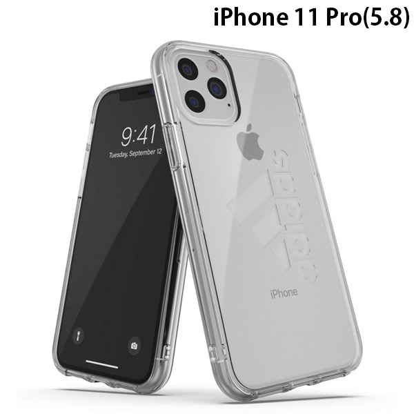 adidas iPhone 11 Pro SP Protective Clear Case FW19 sept 19 Clear big logo